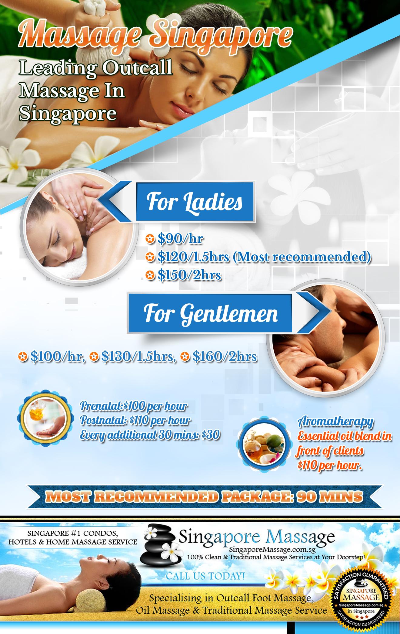 Massage Singapore - Outcall Massage Pricelist